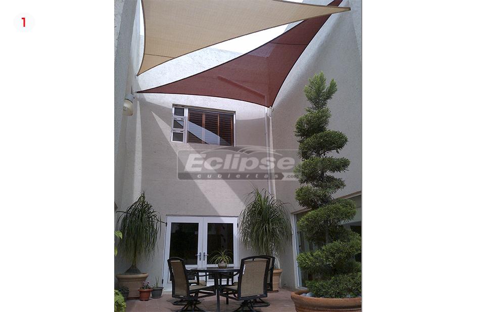 Eclipse cubiertas mallasombra tensoestructuras velarias - Cubiertas para terrazas ...